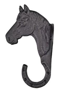 Portabriglie -Testa di cavallo- in ghisa