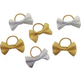 Fiocchetti per criniera con glitter argento oppure oro