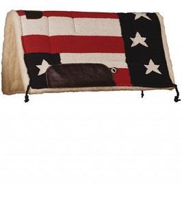 Sottosella Bandiera USA #135 in tessuto navajo imbottito lana sintetica e rinforzi in pell