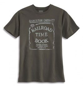 CARHARTT Series 1889 Railroad Time Book Graphic T-Shirt