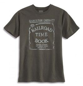 CARHARTT Series 1889 Railroad Time Book Graphic T-Shirt