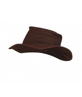 Cappello in tessuto cerato impermeabile per cavaliere