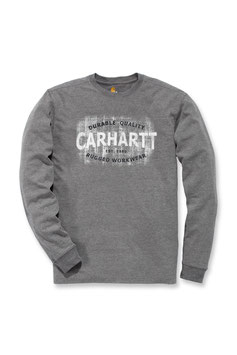 CARHARTT MADDOCK RUGGED WORKWEAR LOGO GRAPHIC LONG SLEEVE T-SHIRT NEW