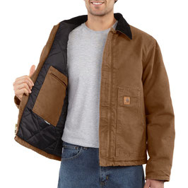 CARHARTT EJ022 Duck Traditional Jacket Brown