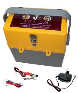 Elettrificatore a batteria 9V/12V e corrente 230V per recinzioni fino a 6 km per cavalli bovini ovini e caprini