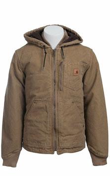 CARHARTT CHAPMAN JACKET MENS Frontier Brown Hooded Multi-Pocket Jacket