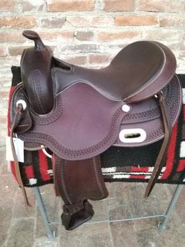 SELLA Western Arcione flessibile per cavalli Larghi DENVER in cuoio