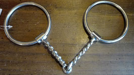 FILETTO WESTERN Square Twisted Loose Ring Snaffle Bit - #265100