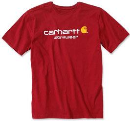 CARHARTT Chili Heather Core Logo T-Shirt