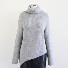 CEDRIC CHARLIER ARCHIVE TURTLE NECK SWEATER GREY 40size