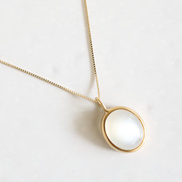 M A R I H A EARTH DROPS WHITE MOON STONE NECKLACE