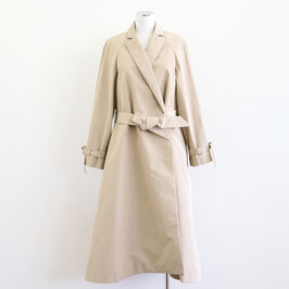 MARTIN GRANT WRAPPED TRENCH COAT BEIGE