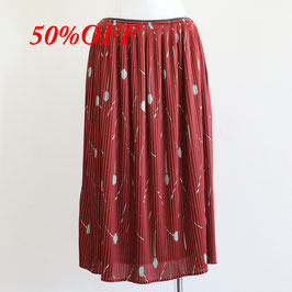 ODEEH AUTUMN WINTER 2019-20 50220 SKIRT RED EARTH