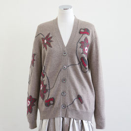 QUEENE AND BELLE FURANO CARDIGAN DARK MED DYED