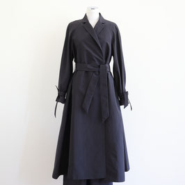 MARTIN GRANT SPRING SUMMER 2020 WRAPPED TRENCH COAT NOIR