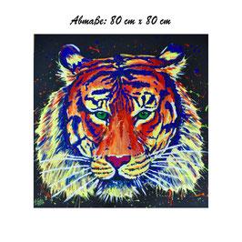 Tiger mit Schwarzlichteffekt