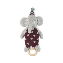 Spieluhr Elefant mit Hütchen