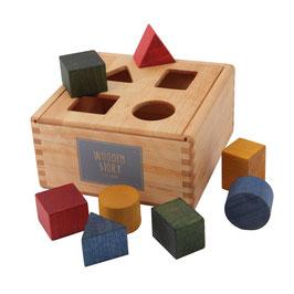 Sortierbox mit bunten Klötzen