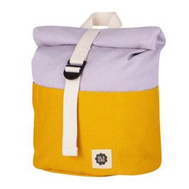 Rolltop Kinder-Rucksack - gelb