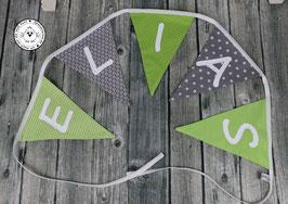 ❤️ Wimpelkette grau-grün