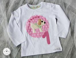❤️  Geburtstagsshirt Hund - rosa oder grün - Modell 1 T-Shirt