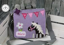 """Kindergartentasche/-rucksack """"Pferd und Schmetterling"""""""