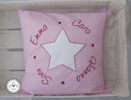 ❤️ Kissen 40x40 cm -Familienkissen rosa  - Modell 4