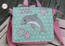 "❤️ Kindergartentasche/-rucksack ""Delfin"""