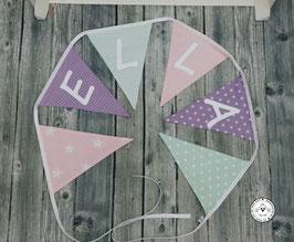 ❤️ Wimpelkette rosa/flieder/mint