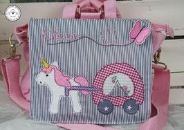 """❤️ Kindergartentasche/-rucksack """"Einhorn mit Kutsche"""""""