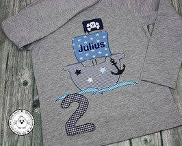 ❤️  Geburtstagsshirt Piratenschiff - Modell 1 T-Shirt