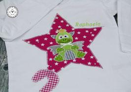 ❤️ Geburtstagsshirt Drache - fuchsia/grün - Strass - Modell 1 T-Shirt