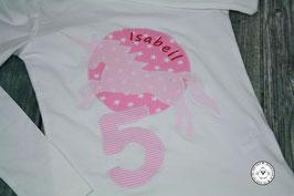 ❤️  Geburtstagsshirt Einhorn - rosa - Modell 3 T-Shirt