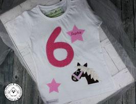 ❤️  Geburtstagsshirt Pferd - fuchsia/rosa - Modell 1 T-Shirt