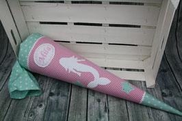 Schultüte Meerjungfrau - pink/mint - Modell 2