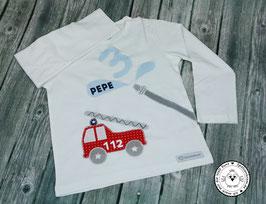 ❤️  Geburtstagsshirt Feuerwehr - Modell 1 Langarm
