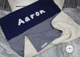❤️ Decke dunkelblau mit kleinen Sterne - Modell 3