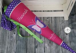 Schultüte Schmetterlinge - pink/lila - Modell 7