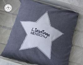 ❤️  Kissen 40x40 cm - Lieblingsmensch -  blau