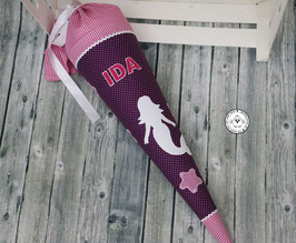 Schultüte Meerjungfrau - lila/pink - Modell 1