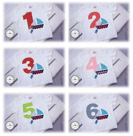 ❤️ Geburtstagsshirt Segelboot - Modell 1 T-Shirt