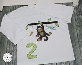 ❤️ Geburtstagsshirt Affe - Modell 1  Langarm
