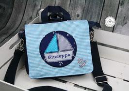 """❤️ Kindergartentasche/-rucksack """"Segelboot Ahoi"""""""