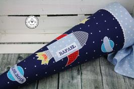 Schultüte Rakete - blau/hellblau - Modell 5