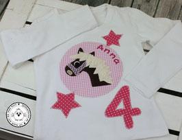 ❤️  Geburtstagsshirt Pferd - fuchsia/rosa - Modell 4 Langarm