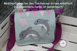 """❤️ Kindergartentasche/-rucksack """"Delfinfreunde"""" auf Wunsch mit Name"""