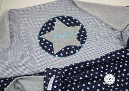 ❤️ Decke mit Stern & Name in  türkis - Modell 6