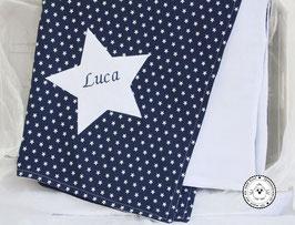 ❤️  Decke Sterne dunkelblau - Modell 12