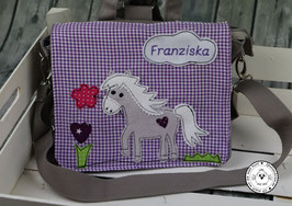 "Kindergartentasche/-rucksack ""Pferdeherz lila"""