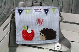 """Kindergartentasche/-rucksack """"Igel mit Apfel"""""""